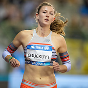 BRUSSELS, BELGIUM:  September 3:  Paulien Couckuyt of Belgium preparing for the Belgium V The Netherlands 400m race during the Wanda Diamond League 2021 Memorial Van Damme Athletics competition at King Baudouin Stadium on September 3, 2021 in  Brussels, Belgium. (Photo by Tim Clayton/Corbis via Getty Images)
