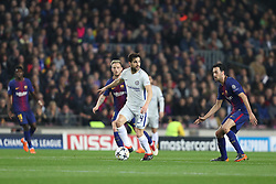 March 14, 2018 - Barcelona, Spain - CESC FABREGAS of Chelsea FC during the UEFA Champions League, round of 16, 2nd leg football match between FC Barcelona and Chelsea FC on March 14, 2018 at Camp Nou stadium in Barcelona, Spain (Credit Image: © Manuel Blondeau via ZUMA Wire)