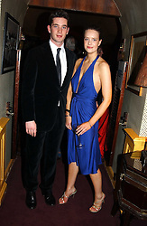 The HON.JAMES TOLLEMACHE and ARABELLA MUSGRAVE at a private dinner and presentation of Issa's Autumn-Winter 2005-2006 collection held at Annabel's, 44 Berkeley Square, London on 15th March 2005.<br /><br />NON EXCLUSIVE - WORLD RIGHTS