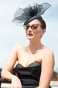 TODAY PICTURE © Licensed to London News Pictures. 06/06/2014. Epsom, UK. Leanne Nash at her 1st Derby.  Ladies Day today 6th June 2014 at Epsom 2014 Investic Derby Festival in Surrey. Traditionally, elegant, fashionable racegoers gather for a classic day's racing at Epsom Racecourse, Surrey. Photo credit : Stephen Simpson/LNP