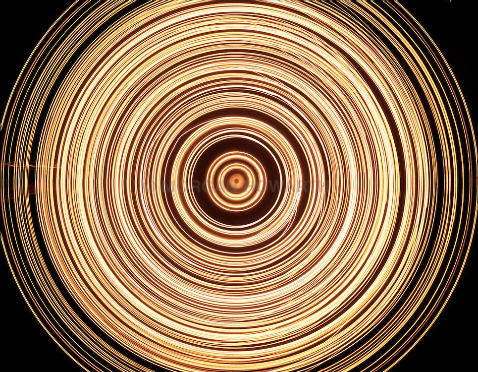 glowing light spiral