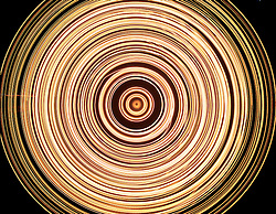 glowing light spiral