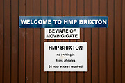 The main driving entrance to HM Prison Brixton, a local men's prison located in Brixton in the borough of Lambeth in South London on the 26th of July 2016, London United Kingdom. The prison originally opened as the Surrey House of Correction in 1820 and now has a capacity of 800 men living across 5 different wings. A, B, C, D and G, G wing houses vulnerable men. (photo by Andy Aitchison)
