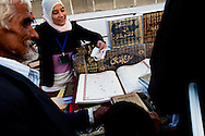 A Salafist book sellers sell her wares in Tunnis.