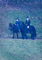 © Licensed to London News Pictures. 09/12/2019. London, UK. Queen Elizabeth II is seen riding at Windsor.  Prince Andrew is expected to appear with the rest of the Royal Family at Sandringham on Christmas Day. Photo credit: Peter Macdiarmid/LNP