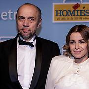 NLD/Amsterdam/20150119 - Premiere film Homies, Leonid Vlassov en Victoria Koblenko