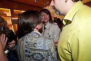 JEREMY DELLER; REBECCA WARREN; KEITH TYSON, Louis Vuitton openingof New Bond Street Maison. London. 25 May 2010. -DO NOT ARCHIVE-© Copyright Photograph by Dafydd Jones. 248 Clapham Rd. London SW9 0PZ. Tel 0207 820 0771. www.dafjones.com.