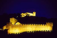 Castello di Montebello and Castello di Sasso Corbaro (back),  Bellinzona, Ticino, Switzerland