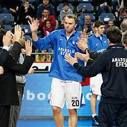 Anadolu Efes's Dusko Savanovic (C) during their Turkish Basketball League match Anadolu Efes between Mersin BSB at Sinan Erdem Arena in Istanbul, Turkey, Saturday, January 14, 2012. Photo by TURKPIX