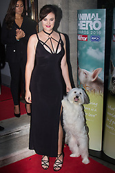 Grosvenor House Hotel, London, September 7th 2016. Celebrities attend the RSPCA's annual awards ceremony recognising the country's bravest animals and the individuals committed to improving their lives. PICTURED: Britain's Got Talent 2012 winner Ashleigh Butler and her dog Pudsey
