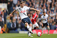Eric Dier of Tottenham Hotspur in action. Barclays Premier league match, Tottenham Hotspur v Manchester Utd at White Hart Lane in London on Sunday 10th April 2016.<br /> pic by John Patrick Fletcher, Andrew Orchard sports photography.