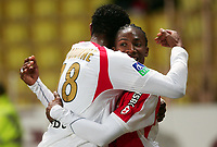Fotball<br /> Frankrike<br /> Foto: Dppi/Digitalsport<br /> NORWAY ONLY<br /> <br /> FOOTBALL - FRENCH CHAMPIONSHIP 2007/2008 - L1 - AS MONACO v RC STRASBOURG - 10/11/2007 - JUBILATE AFTER GOAL OF SERGE GAKPE WITH FREDERIC PIQUIONNE (MON)