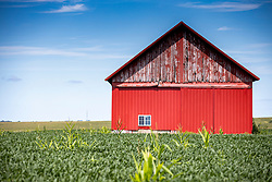 A Barn or farm building located in McLean County.  This building is located north of Bloomington Normal in the vicinity of Hudson Il.