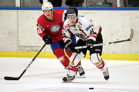Ishockey<br /> Treningskamp<br /> Østerrike v Norge<br /> 09.04.2010<br /> Foto: Gepa/Digitalsport<br /> NORWAY ONLY<br /> <br /> Laenderspiel, Norwegen vs Oesterreich, Vorbereitungsspiel. Bild zeigt Mickey Elick (AUT) und Mathis Olimb (NOR).