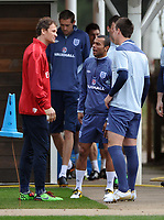 Football - England Training<br /> Arsenal's emergency goal keeper Jens Lehman chats to John Terry and Ashley Cole of England at London Colney, UK