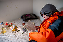 Mark receives no benefits and has spent over 6 month homeless. These photos were taken at an abandoned house he was squatting in.