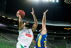 Scott Michael Reynolds of Petrol Olimpija during basketball match between KK Petrol Olimpija and KK Hopsi Polzela in Round #2 of Liga NovaKBM 2018/19, on October 21, 2018, in Arena Stozice, Ljubljana, Slovenia. Photo by Vid Ponikvar / Sportida