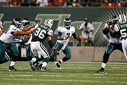 Philadelphia Eagles quarterback Michael Vick #7 scrambles during the NFL game between the Philadelphia Eagles and the New York Jets on September 3rd 2009. The Jets won 38-27 at Giants Stadium in East Rutherford, NJ.  (Photo By Brian Garfinkel)
