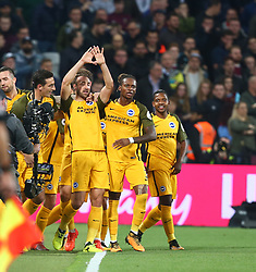 October 20, 2017 - London, England, United Kingdom - Brighton & Hove Albion's Glenn Murray celebrates scoring his sides first goal .during Premier League match between West Ham United against Brighton and Hove Albion at The London Stadium, Queen Elizabeth II Olympic Park, London, Britain - 20 Oct  2017  (Credit Image: © Kieran Galvin/NurPhoto via ZUMA Press)