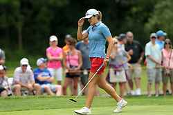 June 16, 2018 - Belmont, Michigan, United States - Celine Herbin of France on the 18th green during the third round of the Meijer LPGA Classic golf tournament at Blythefield Country Club in Belmont, MI, USA  Saturday, June 16, 2018. (Credit Image: © Jorge Lemus/NurPhoto via ZUMA Press)