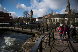 © Licensed to London News Pictures. 06/03/2018. Salisbury, UK. A general view of Salisbury in Wiltshire where Russian spy Sergei Skripal and a woman in her 30s were taken ill with suspected poisoning. The couple where found unconscious on bench in Salisbury shopping centre. Specialist units have been called in to deal with any possible contamination. Photo credit: Ben Cawthra/LNP