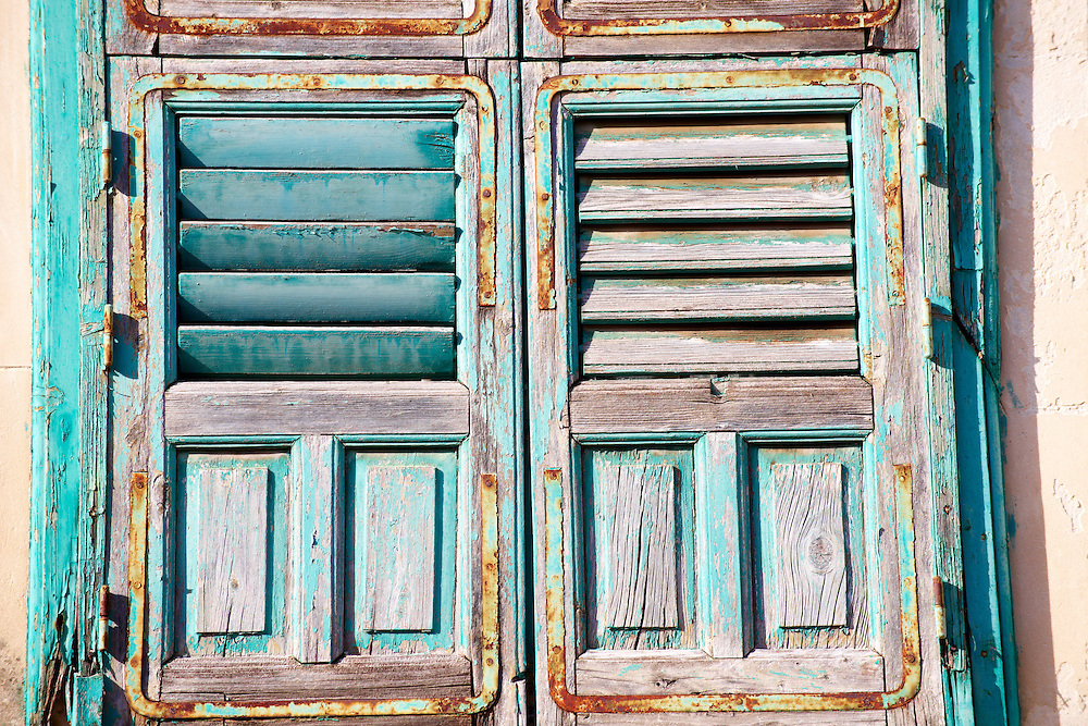 Turquoise shutters, Modica Sicily .<br /> <br /> Visit our SICILY HISTORIC PLACES PHOTO COLLECTIONS for more   photos  to download or buy as prints https://funkystock.photoshelter.com/gallery-collection/2b-Pictures-Images-of-Sicily-Photos-of-Sicilian-Historic-Landmark-Sites/C0000qAkj8TXCzro<br /> .<br /> <br /> Visit our EARLY MODERN ERA HISTORICAL PLACES PHOTO COLLECTIONS for more photos to buy as wall art prints https://funkystock.photoshelter.com/gallery-collection/Modern-Era-Historic-Places-Art-Artefact-Antiquities-Picture-Images-of/C00002pOjgcLacqI