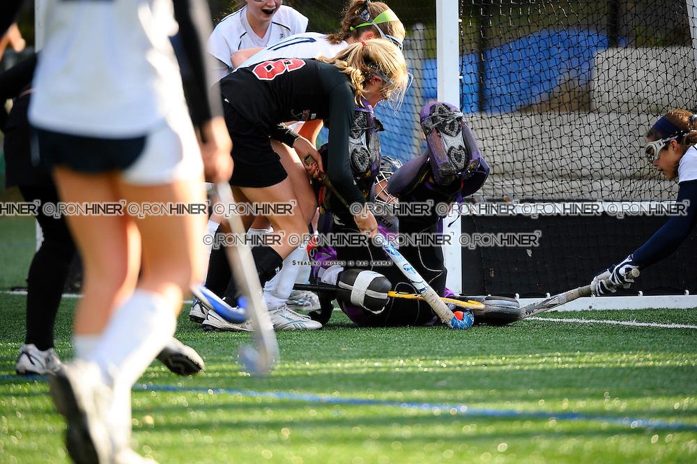 Jenn Hoets (Goalie, Captain).more scary save by Jenn