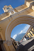 The Santa Catalina arch in world heritage Antigua, Guatemala.