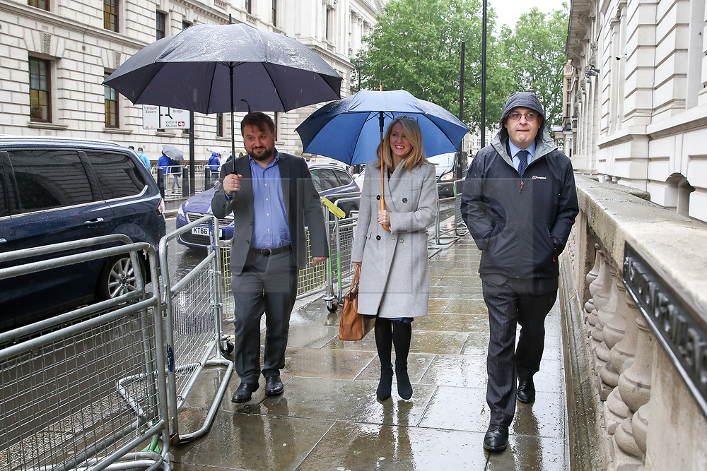 """© Licensed to London News Pictures. 10/06/2019. London, UK. Esther McVey MP (C), candidate for the leadership of the Conservative Party and to become Prime Minister arrives at the Bruges Group's """"Brexit Leadership"""" event in Westminster. The Bruges Group is a think tank based in the UK, it advocates for a restructuring of Britain's relationship with the European Union and other European countries. Photo credit: Dinendra Haria/LNP"""