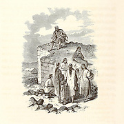 Bedouin women Wood Engravings from the book 'Palestine, past and present' with Biblical, Literary and Scientific Notices by Rev. Osborn, H. S. (Henry Stafford), 1823-1894 Published in Philadelphia, by J. Challen & son; in 1859