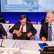 NLD/Amsterdam/20180503 - Aandeelhoudersvergadering Royal Philips 2018, Marnix van Ginneken, Jeroen van der Veer en Frans van Houten