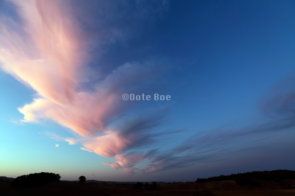 amazing cloud formation at sunset time
