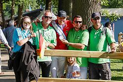 RIESENBECK - FEI Jumping European Championship Riesenbeck 2021<br /> <br /> THIEME Andre (GER), Fans<br /> Impressionen am Abreiteplatz<br /> Second Qualifying Competition - Round 2 <br /> Team Final<br /> <br /> Hörstel-Riesenbeck, Reitanlage Riesenbeck International<br /> 03. September 2021<br /> © www.sportfotos-lafrentz.de/Stefan Lafrentz
