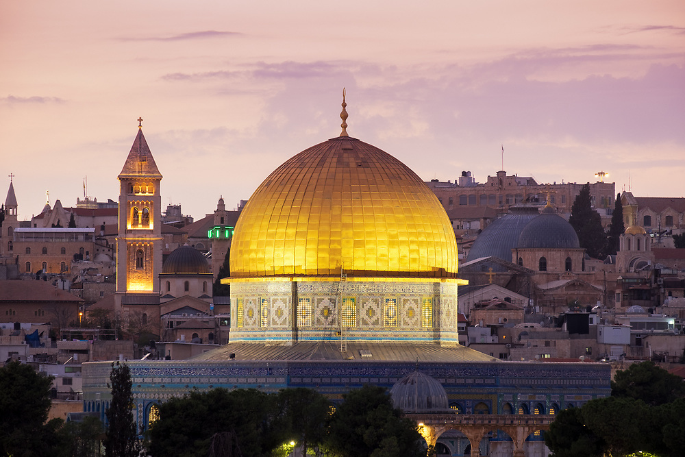 The Dome of the Rock at Twilight