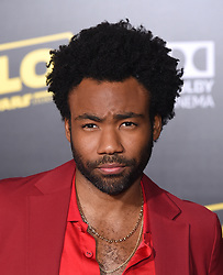 May 10, 2018 - Hollywood, California, U.S. - Donald Glover arrives for the premiere of the film 'Solo: A Star Wars Story' at the El Capitan theater. (Credit Image: © Lisa O'Connor/ZUMA Wire)