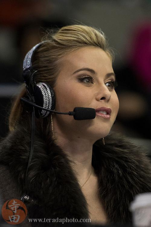 January 4, 2018; San Jose, CA, USA; NBC broadcaster Tara Lipinski in the mens short program during the 2018 U.S. Figure Skating Championships at SAP Center.