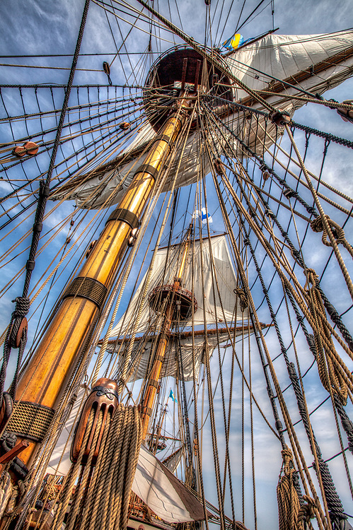 The Kalmar Nyckel was a Dutch armed merchant ship that carried Swedish settlers to North America in 1638 to establish the Colony of New Sweden. This replica of that ship was launched at Wilmington, DE in 1997<br /> <br /> Washington DC Photography / Washington DC Photographs / Washington DC Images Art for Corporate Decor / Hospitality Decor / Health Care Decor / Interior Design Projects requiring Art of Washington DC<br /> <br /> Exceptional Quality Fine Art Photographic Prints / High-Res Images for Interior Decor Projects<br /> Framed Photographs / Prints / Wall Murals / Images Printed to Metal / Canvas / Acrylic / Wood<br /> <br /> Please click the dcstockphotos.com link at the top of this page to view my more complete and comprehensive collection with thousands of Washington DC Images including Image Galleries of other Regions and Specialties