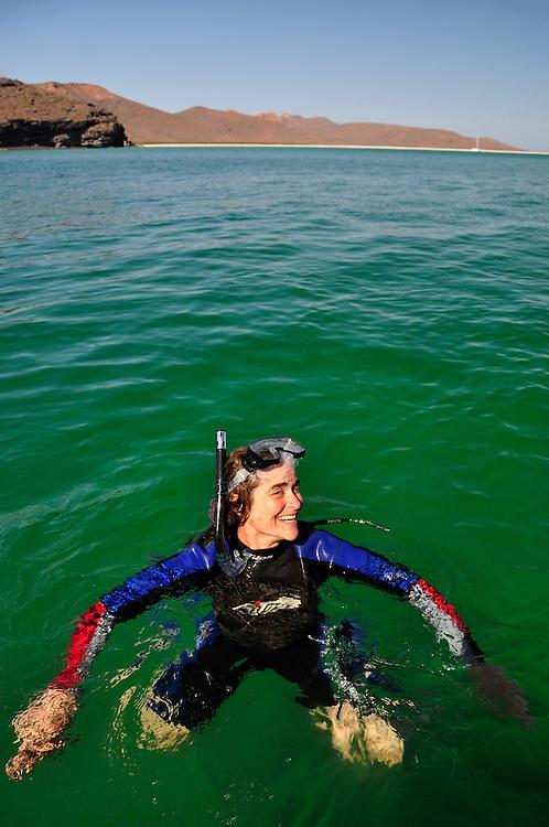 Snorkeling off Isla Espiritu Santo in Mexico's Sea of Cortez.