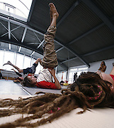 Milano, festival dello yoga al superstudio , lezione di Hata Yoga....Milan, yoga festival, Hata Yoga lesson with teacher Thirak Ruta