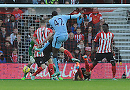 Yaya Toure of Manchester City scores his goal to make it 1-0<br /> - Barclays Premier League - Southampton vs Manchester City - St Mary's Stadium - Southampton - England - 30th November 2014 - Pic Robin Parker/Sportimage