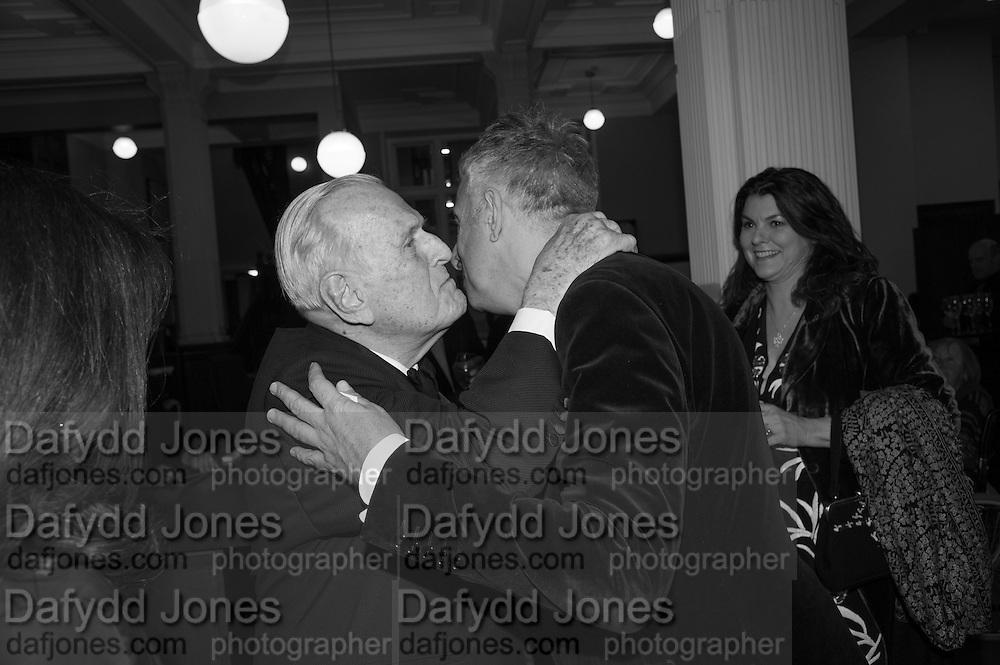 SIR JOHN RICHARDSON; RIFAT OZBEK, The London Library Annual  Life in Literature Award 2013 sponsored by Heywood Hill. The London Library Annual Literary dinner. London Library. St. james's Sq. London. 16 May 2013.