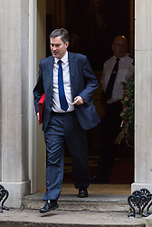 London, December 05 2017. Secretary of State for Work and Pensions David Gauke leaves 10 Downing Street following the weekly cabinet meeting. © Paul Davey