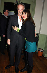 ANTON BILTON and his wife LISA B at a party to celebrate the publication of Style by interior designer Kelly Hoppen held at 50 Cheyne Walk, London on 10th November 2004.<br />
