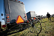 Amish buggy for sale during the Annual Mud Sale to support the Fire Department  in Gordonville, PA.