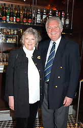 SIR JEREMY & LADY HANLEY at a fund raising dinner hosted by Marco Pierre White and Frankie Dettori's in aid of Conservative Party's General Election Campaign Fund held at Frankie's No.3 Yeoman's Row,æLondon SW3 on 17th January 2005.<br />