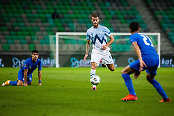 Miha Blazic of Slovenia during football match between National Teams of Slovenia and Greece in UEFA Nations League 2020, on September 3, 2020 in SRC Stozice, Ljubljana, Slovenia. Photo by Grega Valancic / Sportida