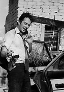 Joe Strummer from the The Clash on the set of Straight to Hell, Almaria, Spain 1986