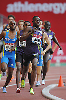ATHLETICS - AREVA MEETING 2010 - STADE DE FRANCE / ST DENIS (FRA) - 16/07/2010 - PHOTO : STEPHANE KEMPINAIRE / DPPI <br /> 800 M - WINNER - MEN - ABUBAKER KAKI (SUD)