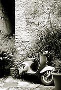 Vintage motorcycle, Limonde Sul Garda, Lake Garda, Italy