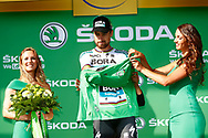 Peter Sagan (SVK - Bora - Hansgrohe), green shirt, podium during the 105th Tour de France 2018, Stage 14, Saint-Paul-trois-Chateaux - Mende (188 km) on July 21th, 2018 - Photo Luca Bettini / BettiniPhoto / ProSportsImages / DPPI